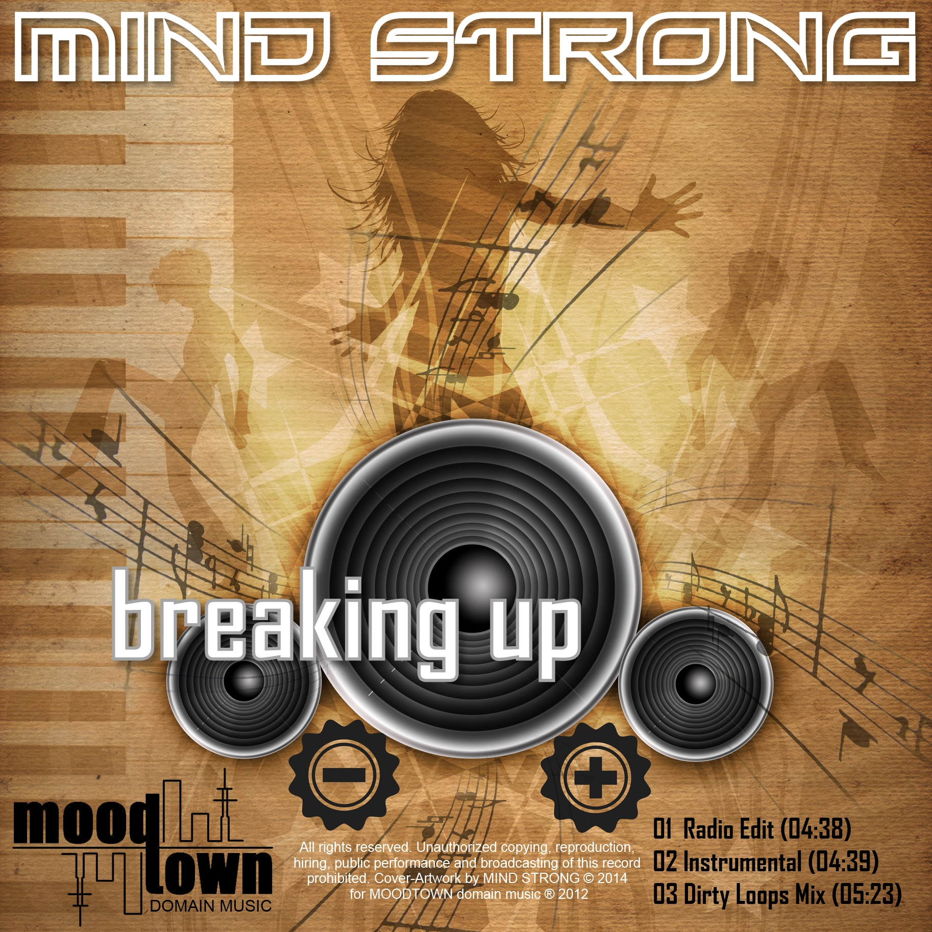 Cover of MIND STRONGs single release BREAKING UP